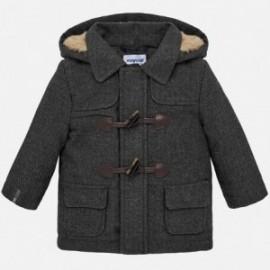 Kabát s kožešinou pro chlapce Mayoral 2453-48  šedá