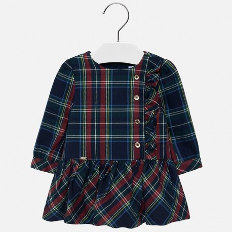 Kostkované šaty pro dívku Mayoral 2926-16 granát