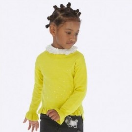 Mayoral 4303-16 žlutý dívčí svetr