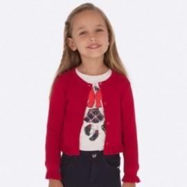 Pletený svetr pro dívku Mayoral 4305-59 červená