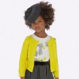 Pletený svetr pro dívku Mayoral 4306-23 žlutý