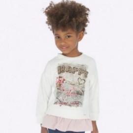 Kombinovaný svetr pro dívky Mayoral 4403-83 smetanový
