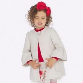 Elegantní knoflík pro dívky Mayoral 4412-28 béžový