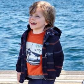 Kabát pro chlapce Mayoral 4450-81 granát