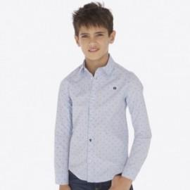 Košile žakár s dlouhým rukávem chlapci Mayoral 7116-21 modrý