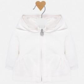 Mikina s kapucí izolované pro dívky Mayoral 2411-30 krém