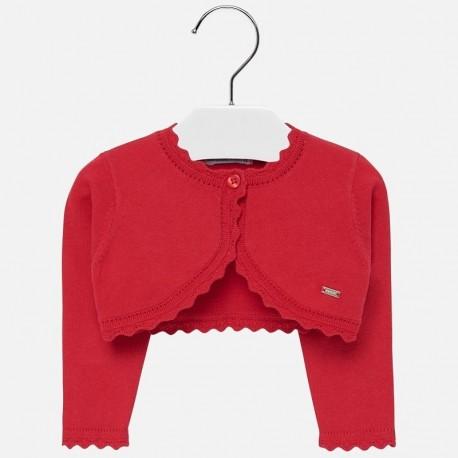 Bolero svetr pro dívku Mayoral 308-12 červená