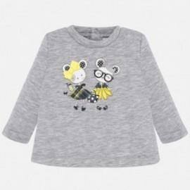 Pletený svetr pro dívku Mayoral 2420-64 stříbro