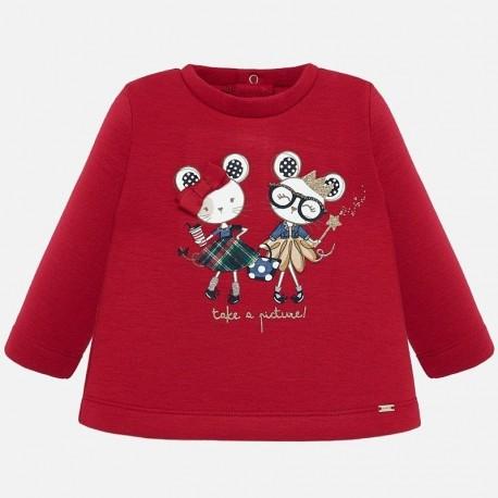 Pletený svetr pro dívku Mayoral 2420-63 červená