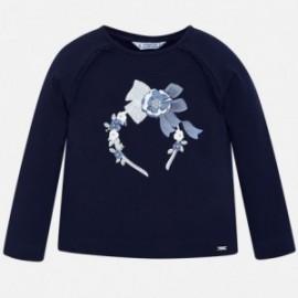 Tričko s dlouhým rukávem pro dívky Mayoral 4005-29 granát