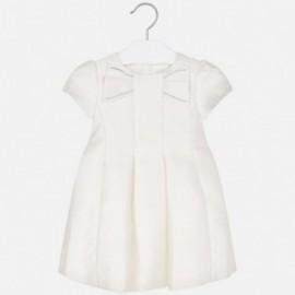 Lesklé šaty holčičí Mayoral 4919-41 krém