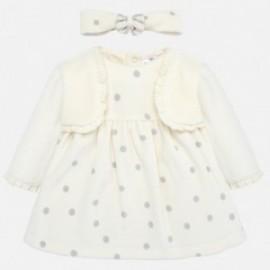 Šaty s čelenkou pro dívku Mayoral 2801-20 krém