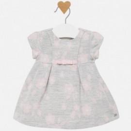 Žakárové šaty pro dívky Mayoral 2818-96 stříbro