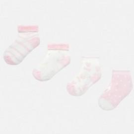 Sada 4 párů ponožek pro dívku Mayoral 9157-57 růžový