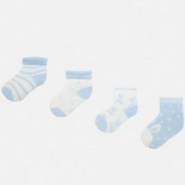 Sada 4 párů ponožek pro chlapce Mayoral 9157-55 modrý