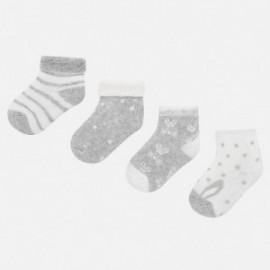 Sada 4 párů ponožek pro chlapce Mayoral 9157-56 šedá