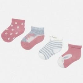 Sada 4 párů ponožek pro dívku Mayoral 9171-45 růžový