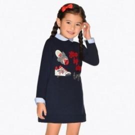 Šaty s výšivkou holčičí Mayoral 4944-10 granát