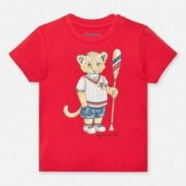Bavlněné tričko pro chlapce Mayoral 1046-25 červené