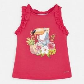 Bavlněné tričko pro dívku Mayoral 3025-20 vodní meloun