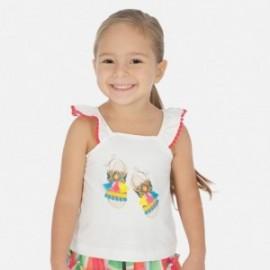 Bavlněné tričko pro dívku Mayoral 3026-38 bílá