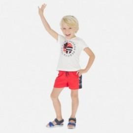 Bavlněné kraťasy pro chlapce Mayoral 3628-82 červené