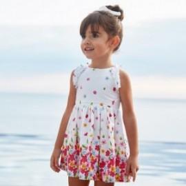 Květinové šaty s podšívkou pro dívky Mayoral 3951-69 Bílá