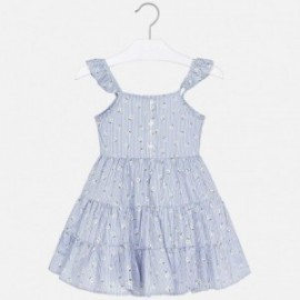 Pruhované šaty pro dívku Mayoral 3953-8 modrá