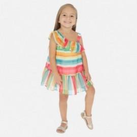 Dívka Mayoral pruhované šaty 3954-7 barevné