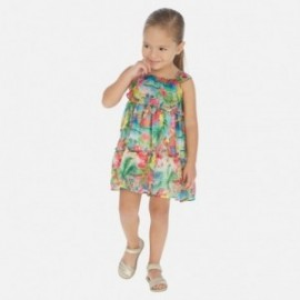 Mayoral 3955-7 volánkové šaty pro dívky, barevné