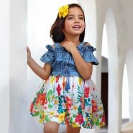 Mayoral 3956-5 barevné džíny šaty pro dívky