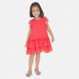 Šaty s volánkem pro dívku Mayoral 3957-43 malina