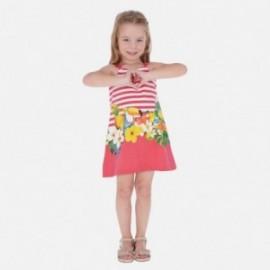 Bavlněné šaty pro dívky Mayoral 3961-11 červené
