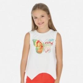 Tričko pro dívky Mayoral 6027-94 bílá