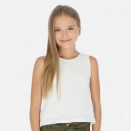 Bavlněné tričko pro dívku Mayoral 6028-93 bílá
