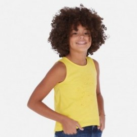 Bavlněné tričko pro dívku Mayoral 6028-92 žlutý