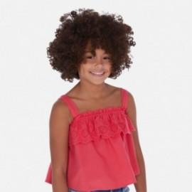 Dívčí volná halenka s výšivkou Mayoral 6171-79 vodní meloun