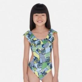 Plavky s volánkem pro dívky Mayoral 6725-10 modrý