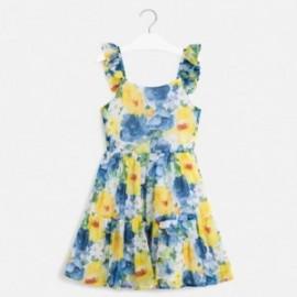 Šaty s potiskem pro dívky Mayoral 6981-76 modrá
