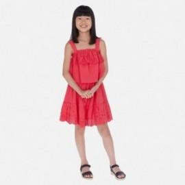 Mayoral 6982-79 malinový popelínové šaty pro dívky