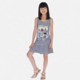 Pruhované šaty holčičí Mayoral 6987-92 granát