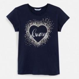 Tričko s krátkým rukávem pro dívky Mayoral 6017-68 granát