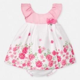 Květinové šaty pro dívku Mayoral 1880-36 růžový