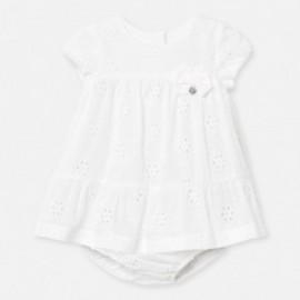 Plumeti šaty pro dívku Mayoral 1884-70 bílá