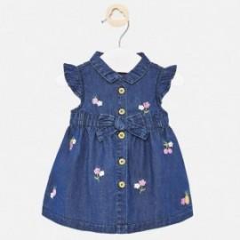 Džínové šaty pro dívky Mayoral 1888-24 granát