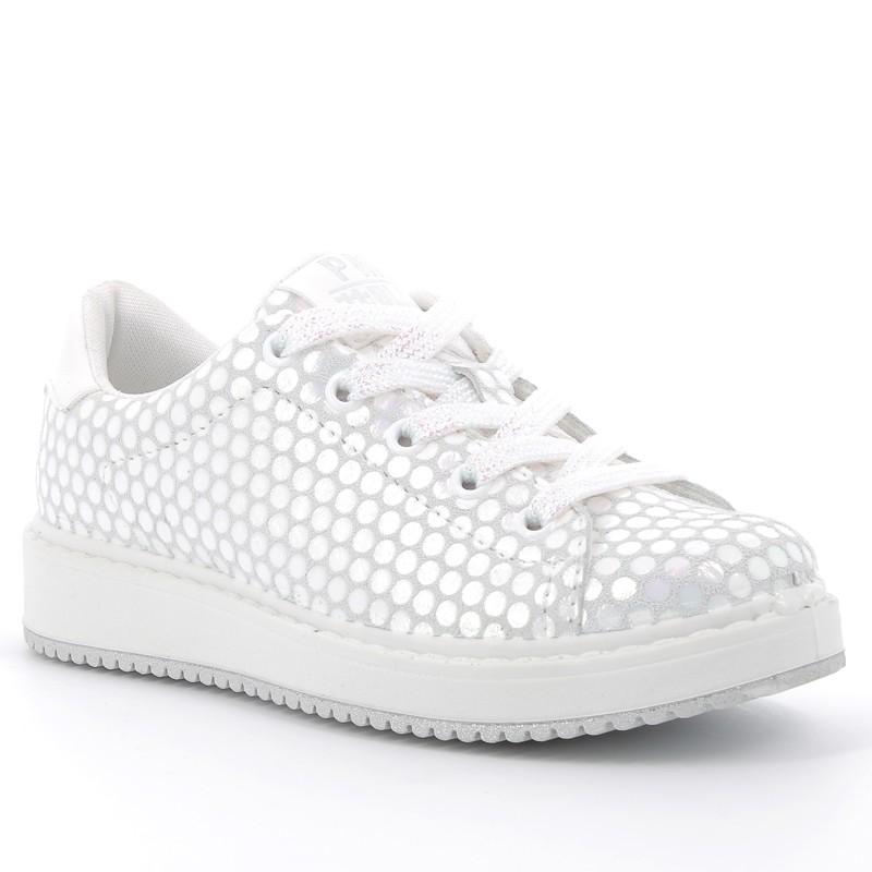 Boty tenisky pro dívky Primigi 5375333 stříbro