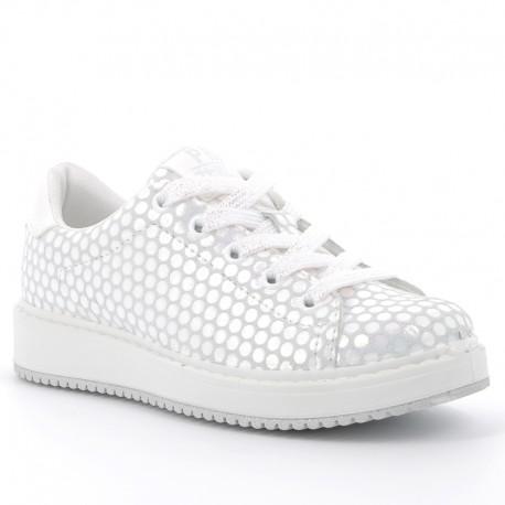 Boty tenisky dívčí Primigi 5375333 stříbro