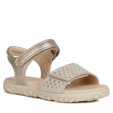 Dívčí sandály Geox J028ZA-007NF-C2010 Zlato