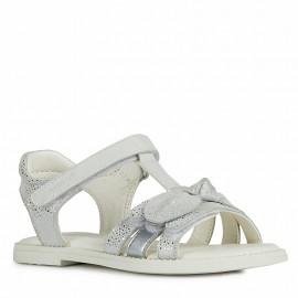 Dívčí sandály Geox J0235G-007BC-C1000 stříbro