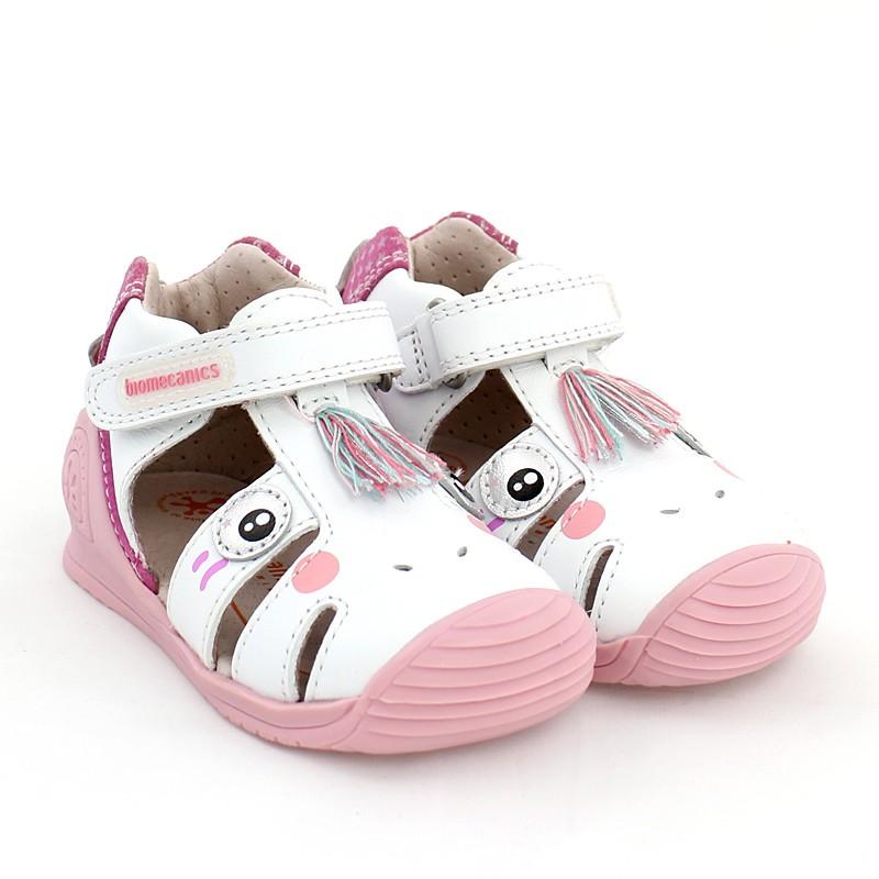 Biomecanics 202132 dívčí sandály bílé